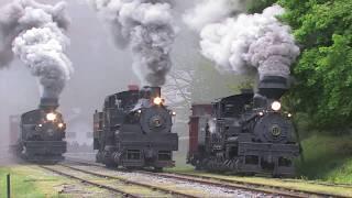 Cass Railfan Weekend 2009:  Western Maryland Steam and Diesel