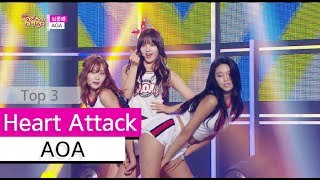 Download lagu [HOT] AOA - Heart Attack, 에이오에이 - 심쿵해, Show Music core 20150704