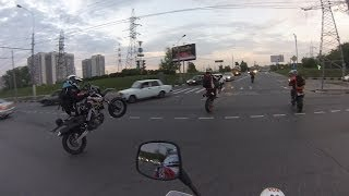 Ride on City and Park on SuperMoto, Moscow