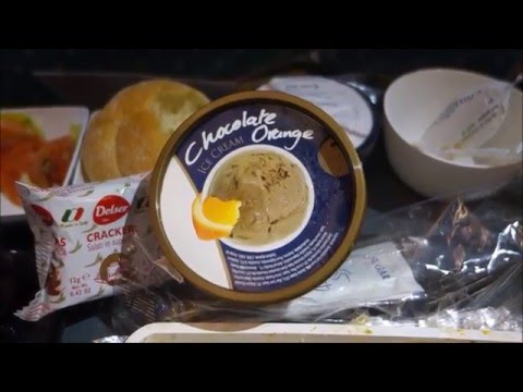 Singapore Airlines London to Singapore SQ 317 Upper Deck Economy Meal Service Part 2