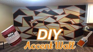 Quick Fall-Inspired DIY Geometric Accent Wall