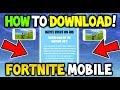 HOW TO DOWNLOAD FORTNITE MOBILE EARLY! - GET FORTNITE MOBILE NOW! (Fortnite Battle Royale Mobile)IOS