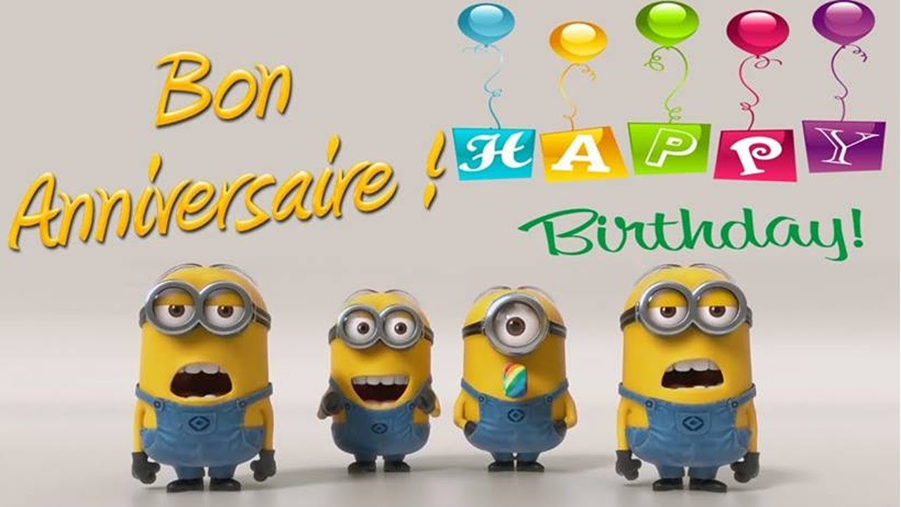 Minions joyeux anniversaire happy birthday youtube - Les minions bonne annee ...