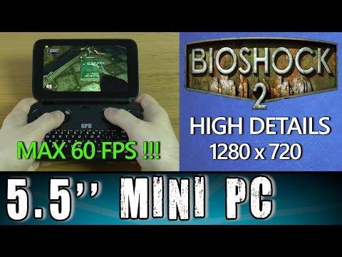 1# GPD Win BioShock 2 (PC) MAX 60 FPS !!! Portable Handheld Gaming Mini PC Intel X7 Z8700