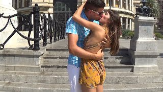 Kissing Prank GONE HOME!
