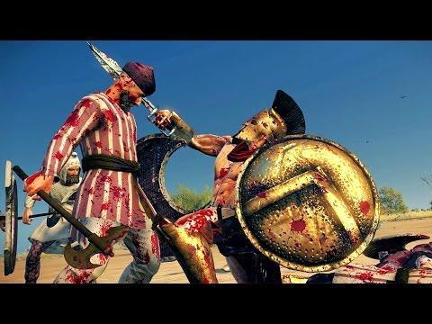 Leonidas of Sparta vs 40 Persians Rome 2 Total War