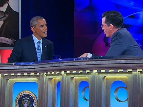 Raw: President Obama Visits Stephen Colbert