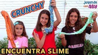 ENCUENTRA EL SLIME. Hago el slime MÁS CRUNCHY del mundo!