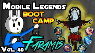 MGL MOBILE LEGENDS BOOT CAMP VOLUME 40 : FARAMIS - TIPS, ITEMS, SPELL, EMBLEMS, TRICKS, AND GUIDE