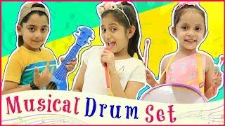 Anantya & Anaya PRETEND PLAY with Musical Drum Set..| #Toys #NurseryRhymes #MyMissAnand #ToyStars