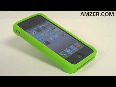 Amzer® Silicone Skin Jelly Case for Apple iPhone 4!