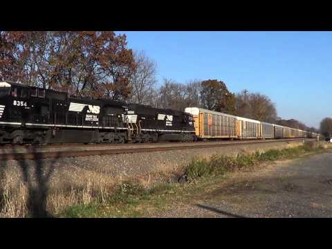 Railfanning Cove, Pa. NS 20T / 11J. EMD SD60E. 11-09-12