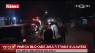 Warga Blokade Jalur Trans Sulawesi