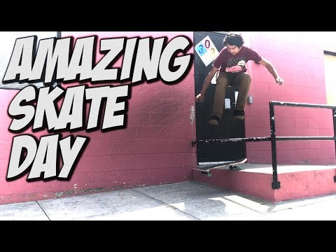 JOHN GETZ & CHRIS SORRIANO AMAZING SKATE DAY !!!! - A DAY WITH NKA -
