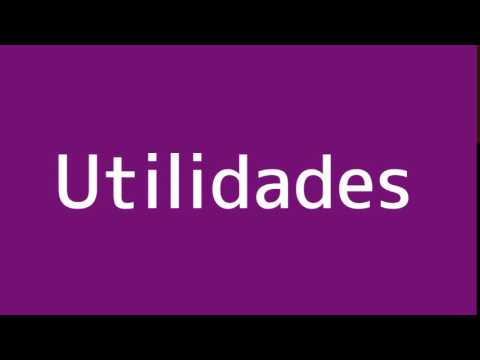 How to say Utilities in Spanish