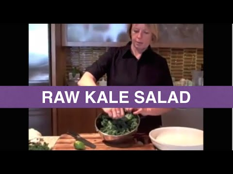 Raw Food Recipes &#8211; Raw Kale Salad with Agave Mustard Dressing &#8211; Pam Sterling