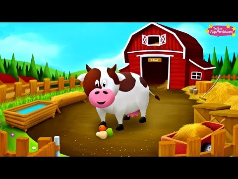 10 Farm Animals 🐄 Learn their Names + Sounds 🐖 Animal Story App for Kids thumbnail
