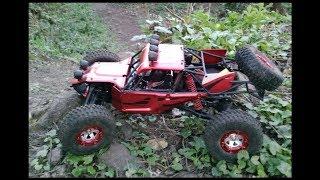 Virhuck V01 1:12 RC buggy maiden woods run