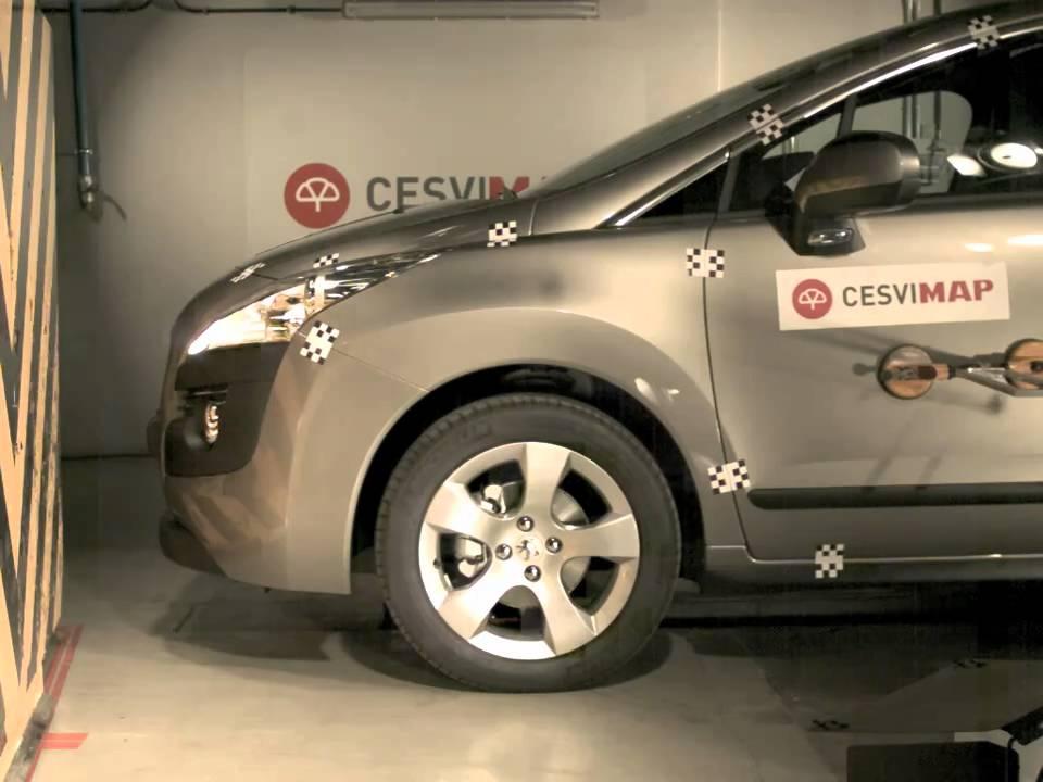 crash test delantero peugeot 3008 en cesvimap youtube. Black Bedroom Furniture Sets. Home Design Ideas
