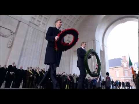 David Cameron Visits World War 1 Grave In Belgium