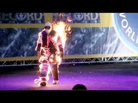 Meet The Record Breakers - Ted Batchelor - Longest Full-Body Burn (No Oxygen)