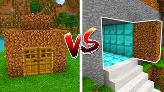 Minecraft PE : NOOB vs PRO - SECRET BASE in Minecraft Pocket Edition