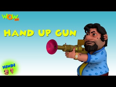 Hands Up Gun - Motu Patlu in Hindi - ENGLISH,FRENCH & SPANISH SUBTITLES! - 3D Animation Cartoon thumbnail