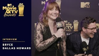 Bryce Dallas Howard on Presenting Chris Pratt's Generation Award | 2018 MTV Movie & TV Awards