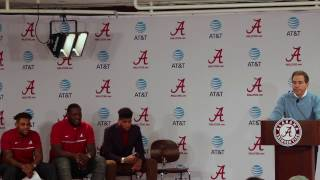 Press Conference -  Alabama underclassmen declare for 2017 NFL Draft