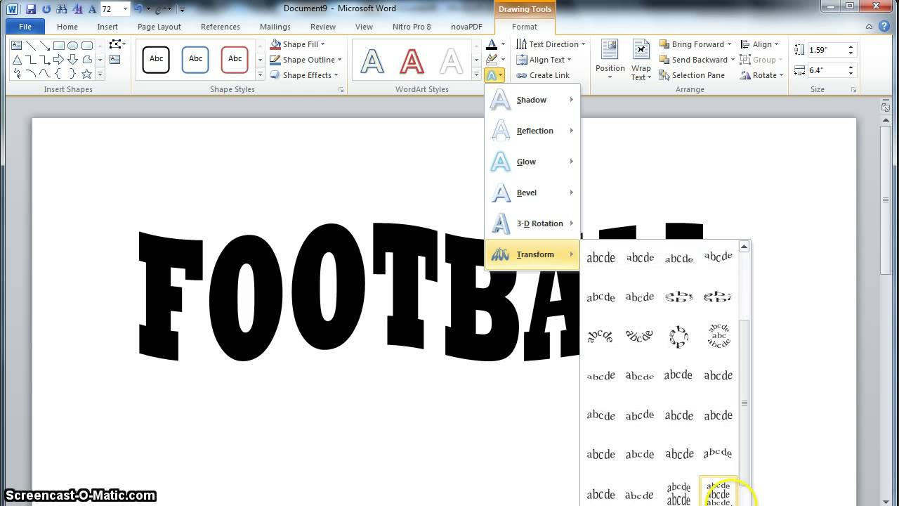 How To Bend Letters In Word