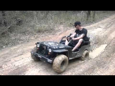 mini jeep mud fun