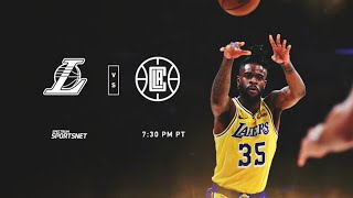 Lakers vs San Diego Clippers, Live pregame with DTLF