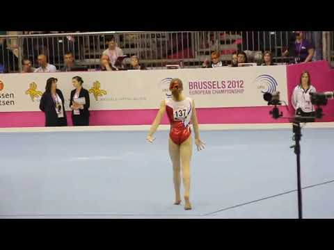 Anne KUHM FRA, Floor Senior Qualification, European Gymnastics Championships 2012