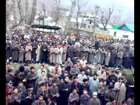 Protest in Bomai sopore In Kashmir