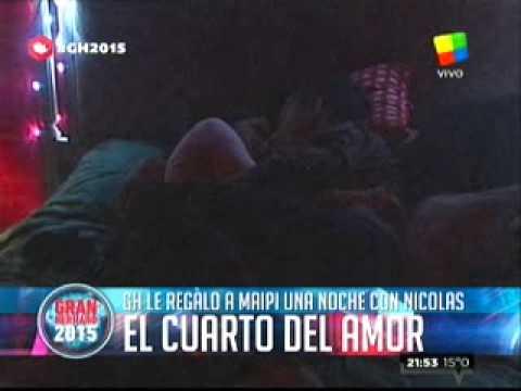 """""""Gran Hermano 2015"""": Maypi cumplió años y lo festejó con Nicolás en el """"Cuarto Rojo"""""""