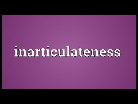 Header of inarticulateness