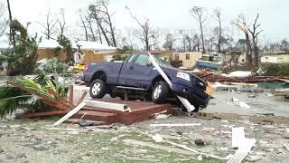 Category 5 Hurricane Michael  Slams Mexico Beach, FL - 10/10/2018