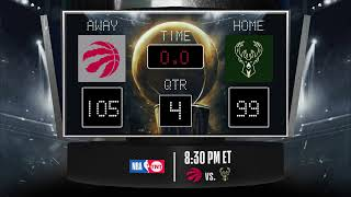 Raptors @ Bucks LIVE Scoreboard - Join the conversation & catch all the action on #NBAonTNT!