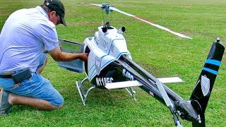 XXL HUGE RC JETRANGER BELL-206 SCALE MODEL HELICOPTER FLIGHT DEMONSTRATION