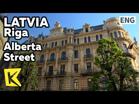 【K】Latvia Travel-Riga[라트비아 여행-리가]알베르타 거리, 아르누보 양식/Alberta Street/Art Nouveau/Old town