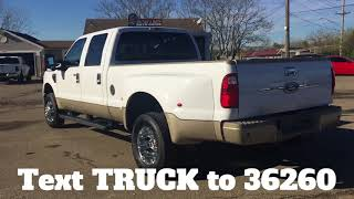 2009 Ford F-350 Super Crew King Ranch Dually 4x4 Powerstroke Diesel For Sale