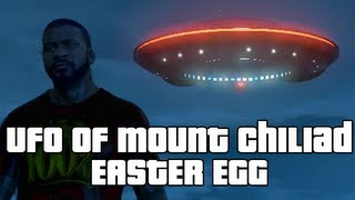 GTA V: UFO of Mount Chiliad Easter Egg