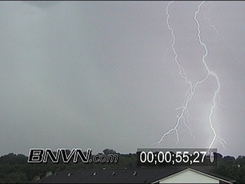7/21/2004 Vivid Lightning video at sunrise with lots of cloud to ground bolts