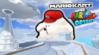 *NEW* Custom Track - Super Mario Odyssey meets MARIO KART 8