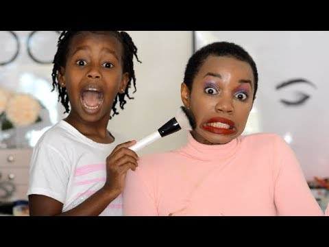 MY SISTER DOES MY MAKEUP!