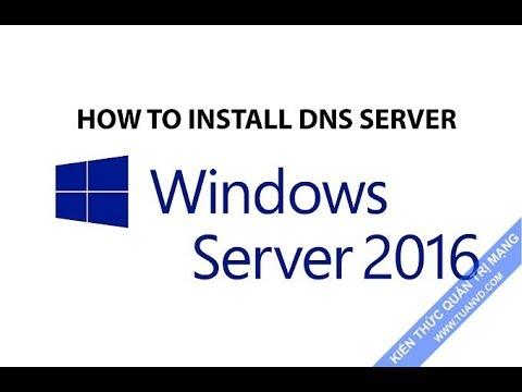 How to install DNS server on Windows Server 2016