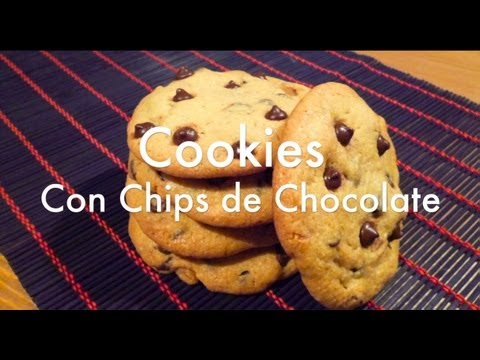 Receta de Galletas Cookies Americanas - Chocolate Chip Cookies Recipe