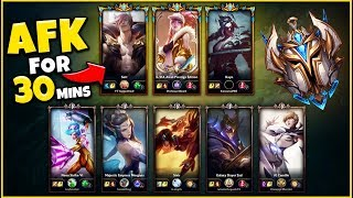 *3 PROS VS 5 BRONZE* BUT THE PROS AFK FOR 30 MINUTES (HARDEST CHALLENGE) - League of Legends
