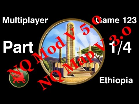 Civilization 5 Multiplayer 123: Ethiopia [1/4] ( BNW 6 Player Free For All) Gameplay/Commentary