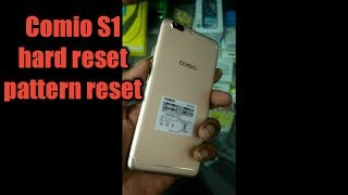 Comio S1 hard reset and pattern unlocked
